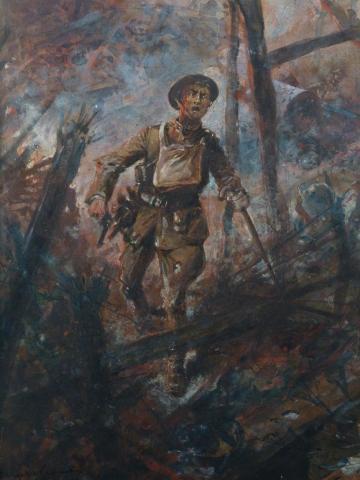 antiquites_a_vendre_peinture_premiere_guerre_mondiale_tableau_de_paul_thiriat_peinture_tableau_miroir_encadrement_20eme_siecle_europe-4161mo