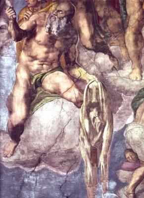 San Bartolomé de El Juicio Final de Miguel Ángel Capilla Sixtina