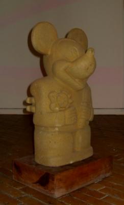 """Nadín Ospina, """"Ídolo con muñeca y cincel"""""""