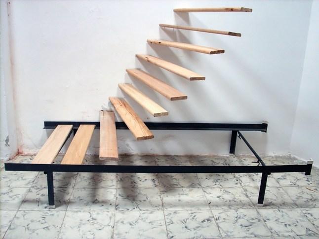 """Obra de Iván Tovar como parte de la exhibición titulada """"Asueto Internacional de Arte de Cali"""" realizada por el colectivo Circular Contemporánea, en una casa del barrio San Antonio."""