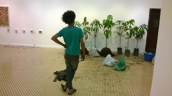 Cuerpos de Tierra – Rodrigo Marques – Instalación